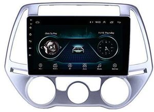 Android 9.0 Car Stereo 9 inch 1080P Autoradio Quad Core Android Head Unit GPS Navigation Audio Radio for Hyundai i20 Manual A C 2012-2014
