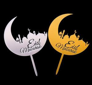 20pc Eid Mubarak bolo chapéus de coco Flags Glitter Crianças partido noiva do casamento aniversário feliz Cupcake Topper muçulmano Eid Baking DIY