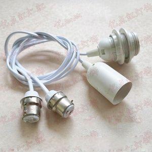 Fili Extension Cord Lamp Holder B22 a E27 allungato testa della lampada d'epoca baionetta adattatore Ombra Vite Hanging lanterna appesa Adapter Wire