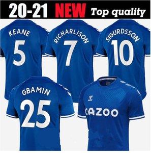 2021 KEAN soccer jerseys 20 21 RICHARLISON SIGURDSSON EVERTON football shirt 2020 ANDRe GOMES KEANE BERNARD WALCOTT TOSUN men