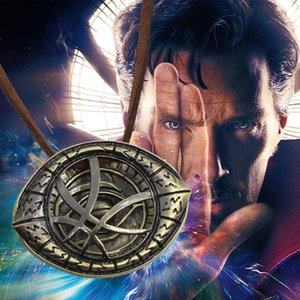Chaud Fantasy Film Doctor Strange Colliers Pendentifs Vintage Dr.Strange Pendentif En Cuir Chaîne Collier Ras Du Cou Collier
