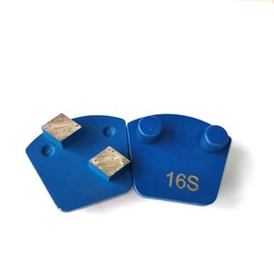 Double Pins Quick Lock Grinding Pads Two Rhombus Segments Concrete Grinding Shoes for Concrete Floor Renovation 12PCS