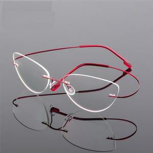 F860 frame Rimless Glasses Telaio lega di titanio ultraleggero occhiali senza telaio Cat Eye Screwless Occhiali miopia Ottico