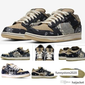 Travis Scotts x SB Dunk Low Jackboys Mens Running Shoes Top Quality Skateboard Casual Sneakers CT5053-001 Eur40-45