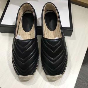 Alpargatas de lujo del diseñador mujeres de la plataforma del calcetín de primavera y verano Hardware holgazán del cuero auténtico de chicas único enfermo Zapatos manera que recorre