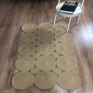 Else Natural Organic Jute Carpet Sisal Nomad Natural Fiber Collection Hand Woven Jute Area Rug For Home Living Room