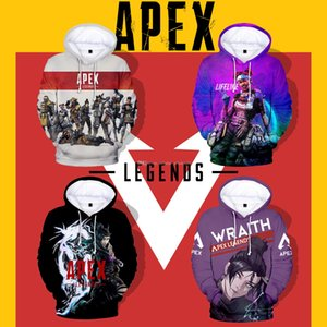 Apex Legends New Adult e Kids Full Color 3D Digital Apex Legends Hero Digital Print Felpa con cappuccio primaverile ed estiva