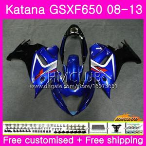 Kit Pour SUZUKI KATANA GSX650F GSXF 650 GSXF-650 08 09 10 11 12 13 14 14HM.11 GSXF650 2008 2009 2010 2011 2012 2013 2014 2014 Carénage Stock bleu