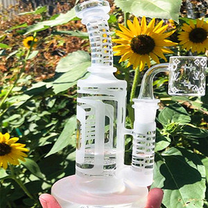 Neue Design-Sandblastin Glas Wasserleitungen Glas Banger Hanger Nail Glas Bongs Dab Rigs Bohrinsel Sprudler Hookahs Becher Wasserleitungen