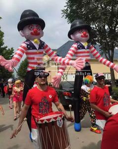 3,5 m di altezza divertente personalizzato esterna fatta gonfiabile jolly piedi costume da clown gonfiabile animato fantoccio