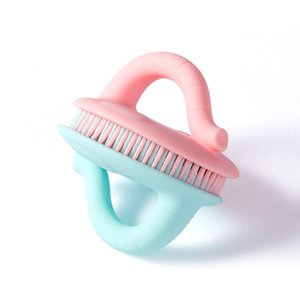 Emniyet Bebek Vücut Fırça Silikon Banyosu Duş Sünger - Yumuşak Nazik Doğal Vücut Eksfoliyator Yüz Ayak Saç Saç Derisi Cradle Cap Fırça S