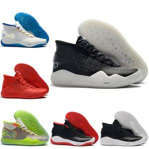 2019 Kevin Durant KD 12 90s Kid 12S XII Men Basketball Shoes - Red Day اليوم الأول KD 12 حذاء رياضي مقاس US 7-12