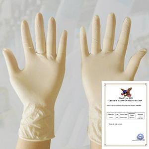 100 / 50pcs in lattice monouso da cucina guanti di pulizia universale di lavoro Finger Gloves gadget protettivo in lattice Home Food cassaforte Cucina