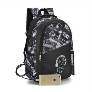 garçons concepteur-OLN sacs scolaires lettres imperméables grand sac à dos pour les adolescents de haut sac d'école pour les étudiants garçon Voyage sac casual