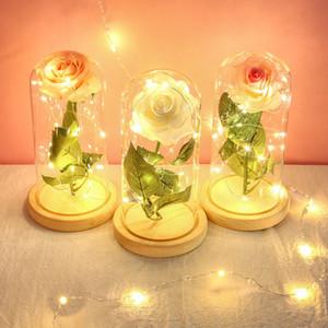 디스플레이보다는 사용되는 제품 시뮬레이션 꽃 작은 밤 빛을위한 가구 램프 장식 제품을 가져 연인 섹션 커버 유리 로즈