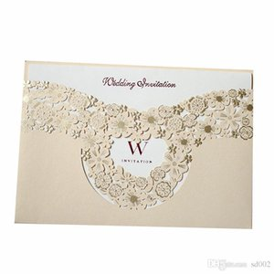 Marry Invitation Card Hollowing Out Greeting Cards Gold Wedding Decorate Supplies Creative Photo Special Cardboard Hot Sales 1 7qyC1