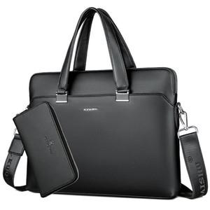 Deri Tasarımcı Laptop Çanta Ofis Büyük Kapasiteli Evrak çantası Erkek Omuz Çantaları