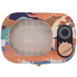 الأسنان طفل التذكار هدية مجموعات هدايا الأسنان الخشبية مربع التلفزيون الأسنان على شكل الأسنان التذكار صندوق تخزين تذكارات الإعلانات جمع GiftA