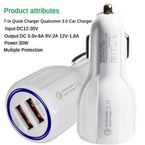 carga rápida QC3.0 3.1A Carga Rápida coche cargador dual de carga rápida USB del teléfono para el teléfono celular