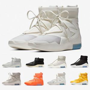 Nike Air Fear of God 1 Con scatola FOG Fear of God X 1 SA 180 Stivali da incursione Osso di luce Design di lusso Scarpe da corsa Scarpe da ginnastica sportive all'aperto 36-46