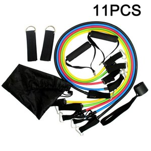 11pcs / набор тросового Фитнес упражнение Сопротивления Группа Мужчины Женщина Фитнес Resistance Bands Йог тренировка упражнение CrossFit Tube