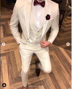 2019 белые мужские свадебные костюмы смокинг дизайнер формальные мужские костюмы костюмные костюмы для hommes мужские дизайнерские жених жилет свадебные смокинги