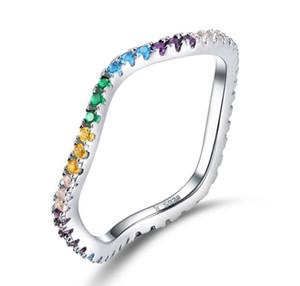 SCR465 preço por atacado gemstone artificial Jewellery mix de pedra colorido do arco-íris CZ anel personalizado zircônia