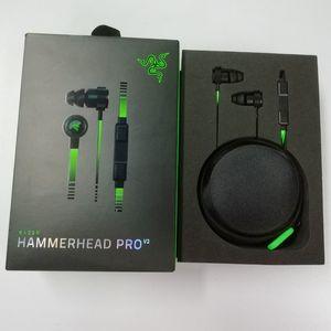 Новый выпущенный Razer Hammerhead Pro V2 Наушники-вкладыши Наушники с микрофоном Игровые гарнитуры Шумоизоляция Стерео бас