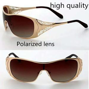 hochwertige Liv Gold Sonnenbrille polarisierter Metallrahmen integrierte siamesische braune Linse großer Rahmen mit Komplettpaket 1 Stck