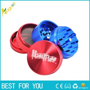 New hot CNC Dia.50MM 5 Layers Aluminum Alloy Tobacco Crusher Herb Spice Grinder pepper Miller Hand Muller With Big Volume Storage Case