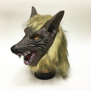 Masque de loup Halloween, costumes effrayant masque de loup-garou effrayant visage complet pour Halloween et Cosplay Costume Party Horror Nights