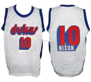Norm Nixon # 10 Universidad de Duquesne Dukes cosido Baloncesto Jersey retro de los hombres de encargo cualquier Número Nombre jerseys