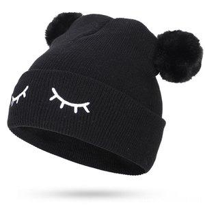 Cappelli nuovo inverno per i cappelli ricopre i cappelli, Sciarpe Guanti bambino Beanie dei capretti dei bambini delle ragazze dei ragazzi Faux della pelliccia di Fox Pompon morbida Cap ricami carino Cod