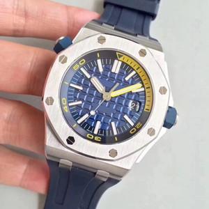 2019 горячие продажи высокого качества спортивные часы мужские серии 15710ST желтый циферблат резиновый ремешок 42 мм автоматические механические мужские наручные часы