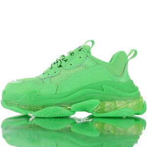 Neue Art und Weise Triple S Klar Sole Schuhe Herren Sport-laufende Schuhe Paris Clunky Sneaker Schwarz Grün Frauen Gehen Kissen Chaussures NO BOX