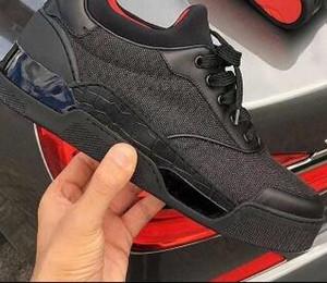 Fábrica de zapatos casuales directos caliente Aurelien zapatillas de deporte de las mujeres planas de los hombres, zapatos inferiores rojos calidad perfecta al aire libre ocasional entrenador regalo perfecto LL2
