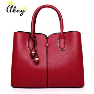 ABAY جلد النساء حقائب 2019 موضة الكتف حقيبة نوعية الجلود حقائب CROSSBODY للنساء رسول