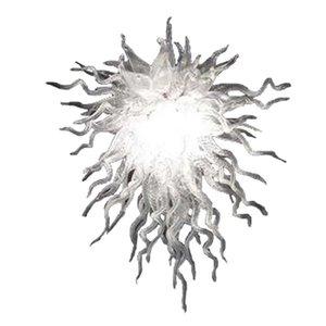 Vidrio soplado cristal de iluminación de la lámpara de la venta caliente de color blanco puro de la mano del nuevo del estilo del accesorio montado en el piso