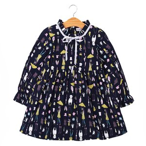 toddler girl clothing spring autunm black kids dresses for girls wedding long sleeve print princess dress kids clothes ball gown