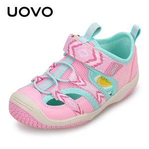 Uovo Kid сандалии синий / розовый Маленькие девочки Летняя обувь резиновая подошва Мальчики Девочки Бич Non-Slip Спортивные сандалии 2 3 4 5 6 Years