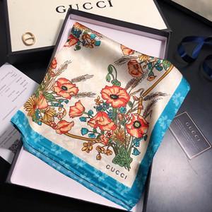 Mesdames quatre saisons design de luxe de la mode Petite place nouveau printemps de luxe / été imprimé petite serviette carrée 50 * 50cm lp68