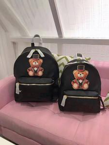 Ms New Bags lettere Stereo scuola per Ragazze adolescenti Donne Magic Circus Orso Zaino Qualità Student pacchetto borsa unisex