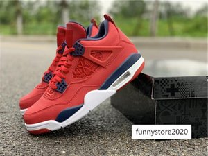 Hottest Air SE 4 FIBA Mens Basketball Shoes World Cup Retro Gym Red Flight 4S Jumpman LOGO CI1184-617 Authentic Sneakers Size 7-13