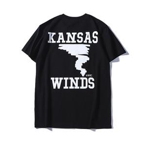 Designer Men T-shirt Brands Tshirts Fashion Street Luxury Short Sleeved Clothing Popular Letter Tornado Pattern Breathable Casual Tops