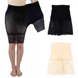 LNRRABC Calças Curtas de Segurança de Renda das Mulheres Plus Size Femme Boxer Shorts Cuecas Sem Costura Sexy Alta Elastic Cintura Cuecas
