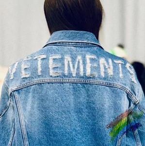 2020ss Détruit Skinny Slim Denim Veste Homme Femme 1 de haute qualité Streetwear Cowboy Jean Men Jacket