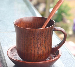 Caneca pequena de madeira Cup Exquisite Tea Leite Eco-friendly Tumbler Resistência Retro To Fall Classical têm alças 24 99tbb1