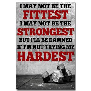 NICOLESHENTING Musculação Motivacional Citações Art Silk Poster 12x18 24x36inch fitness exercício parede Pictures Gym Room 022
