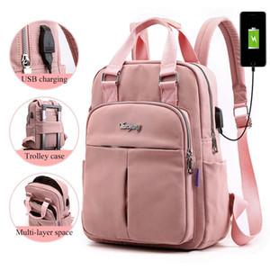 Ragazze Laptop zaini rosa Uomini USB di ricarica borse Bagpack Donne Travel scuola dello zaino borsa per ragazzi adolescenti Mochila Escolar 2019