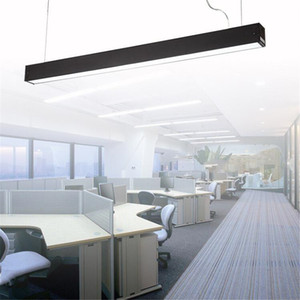 120 cm oficina LED de aluminio rectangular colgante luz de techo moderno de plata lámpara de lámpara led para comedor restaurante oficina